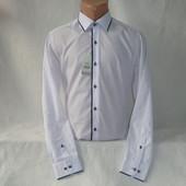 Мужская рубашка с длинным рукавом Nens, Турция. Манжеты застегиваются и на пуговицы, и на запонки.