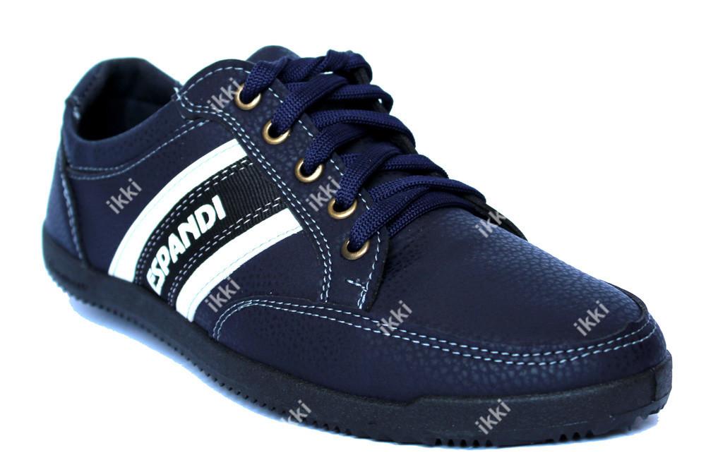 40  р мужские демисезонные кроссовки синие (бл-19с) фото №1