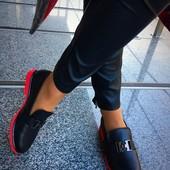 Стильные туфли Кожа и замш