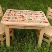 Дитячий комплект столик стільці стул з Натурального дерева ясен