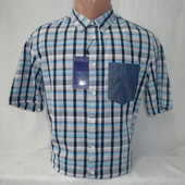 Распродажа! Мужская рубашка в клетку с коротким рукавом Piazza Italia. Разные цвета.