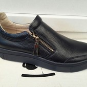 Спортивные туфли -Мокасины из натуральной кожи