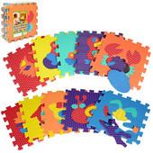 Коврик пазл для детей Животные текстурный  М2616 , м 2616