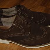 Кожаные туфли Venturini 43-44 р хорошее состояние