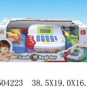 Кассовый аппарат на батарейках, микрофон, деньги, сканер, продукты, свет, звук, в коробке 38,5*16*19