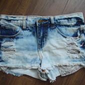 Фирменные Denim модные шорты девочке подростку на 11-13 лет идеал