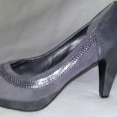 Кожаные туфли фирмы Exquily p. 37 стелька 24 см