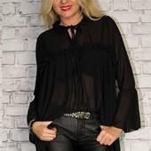 Элегантная женская шифоновая блуза