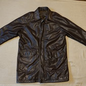 Отменная удлиненная фирменная коричневая кожаная куртка Arma Голландия 54 р.