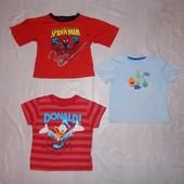 1,5-3 года, р. 86-98, футболка для мальчика Disney, Primark фирменная