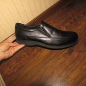 Шкіряні туфлі мокасіни 30 см стьлька