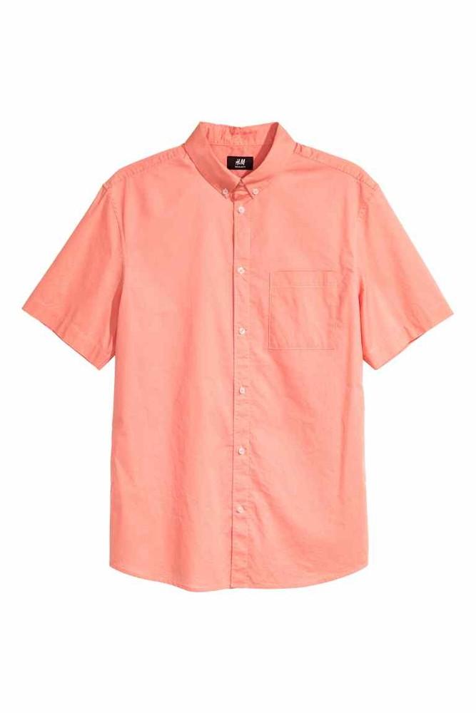 Рубашка мужская regular fit h&m англия размеры м-хл фото №1