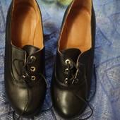 Кожанные туфли 38р, 25 см
