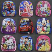 Детские рюкзаки с героями Человек паук, принцесса София, микки маус, щенячий патруль, миньон, бетмен
