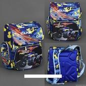 Рюкзак школьный 555-421 три отделения, 2 кармана, 2 отделения внутри, ортопедическая спинка