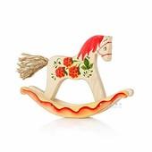 Деревянная лошадка-качалка Малина Сказки дерева.