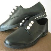 Стильные туфли с жемчугом, очень удобные