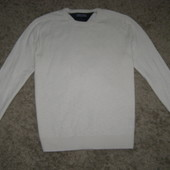 Tommy Hilfiger  свитер белого цвета  cotton-cashmere  M-L-размер. Оригинал