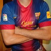 Спортивная оригинал футбольная футболка nike ф.к Барселона .л-м .