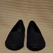 Легчайшие черные кожаные лоферы 5Th Avenue. Германия 42 р.