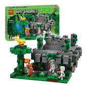 Конструктор Bela храм в джунглях My world 604детали 10623 аналог Lego майнкрафт Minecraft 21132