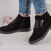 Демисезонные ботиночки резинка.