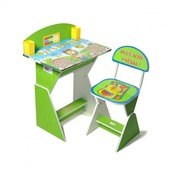 Rus Парта + стул E2017 green Веселой учебы