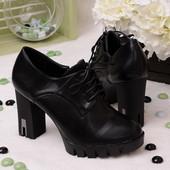 Стильные женские туфли на каблуке