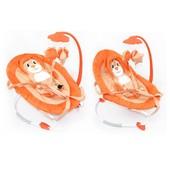 Детский шезлонг Tilly Львенок (bt-bb-0002 orange) с дугой