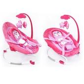 Детский шезлонг Tilly Котенок (bt-bb-0002 pink) с игрушками