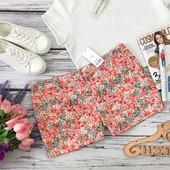 Очаровательные летние шорты в нежный цветочный принт  SR4402