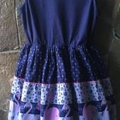 Многофактурное платье George с вышивкой. Сток. Размер 135-140 на 9-10 лет.