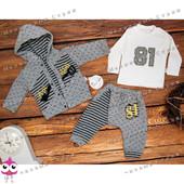 Теплый спортивный костюм на мальчика, 68 80 86 размер, кофта с капюшоном, штаны, мастерка , Турция