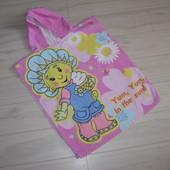 Пляжное полотенце-пончо для девочки
