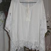 Супер пляжная накидка , блузка с кружевными вставками hollister