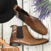 Мужские ботинки челси Asos из натуральной кожи с винтажным эффектом  SH3417