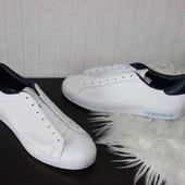 43 28см Adidas Кожаные кроссовки кеды