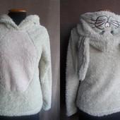 Теплая, мягкая пижамная кофта George из велсофта (махра-травка) евро размер 8-10/36-38 наш 42-44