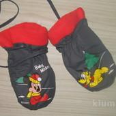 Непромокаемые варежки рукавички краги на малыша Disney 6-18 мес