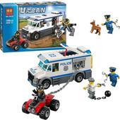 Конструктор Bela Urban 10418 Автомобиль для перевозки заключенных 198 деталей аналог lego city 60043