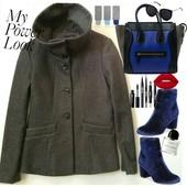 короткое деми пальто H&M p-S