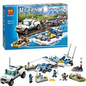 Конструктор Bela Urban 10421 Полицейский патруль 409 деталей  аналог Lego City 60045