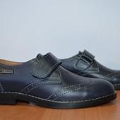 Подростковые туфли фирмы ed-ge brothers синие и черные 32-39о