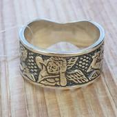 Кольцо серебряное Эрот