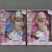 Кукла Пупс функциональный с аксессуарами, 2 вида YL1710В