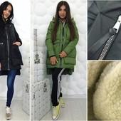"""Женская куртка """"Аляска"""" однотонная СМ, МЛ и 48-50 , 52-54 (2с"""