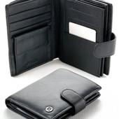 Мужской кожаный кошелек правник Boston с отделом под паспорт В наличии разные модели