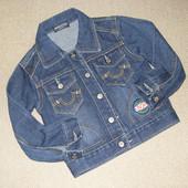 Джинсовка джинсовий піджак 86-92 см