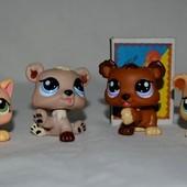 Разные Пет шопы pet shop игрушки зоомагазин Littlest pet shop LPS щенок собачка кошечка стоячка