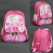 Рюкзак школьный Барби 4 отделения, 2 отделения внутри, 2 карамана, спинка ортопедическая